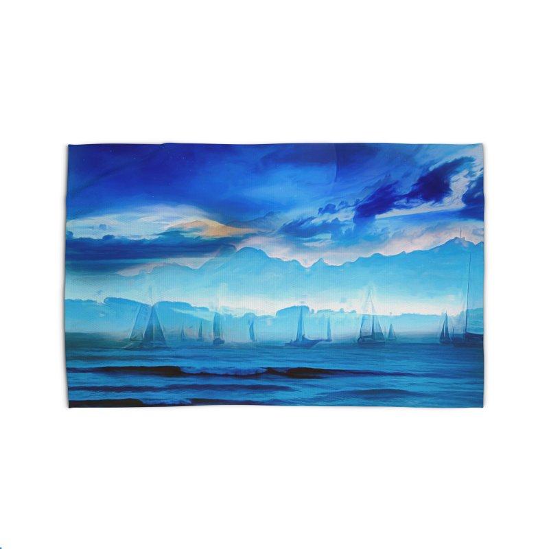 Blue Dreams Home Rug by Jasmina Seidl's Artist Shop
