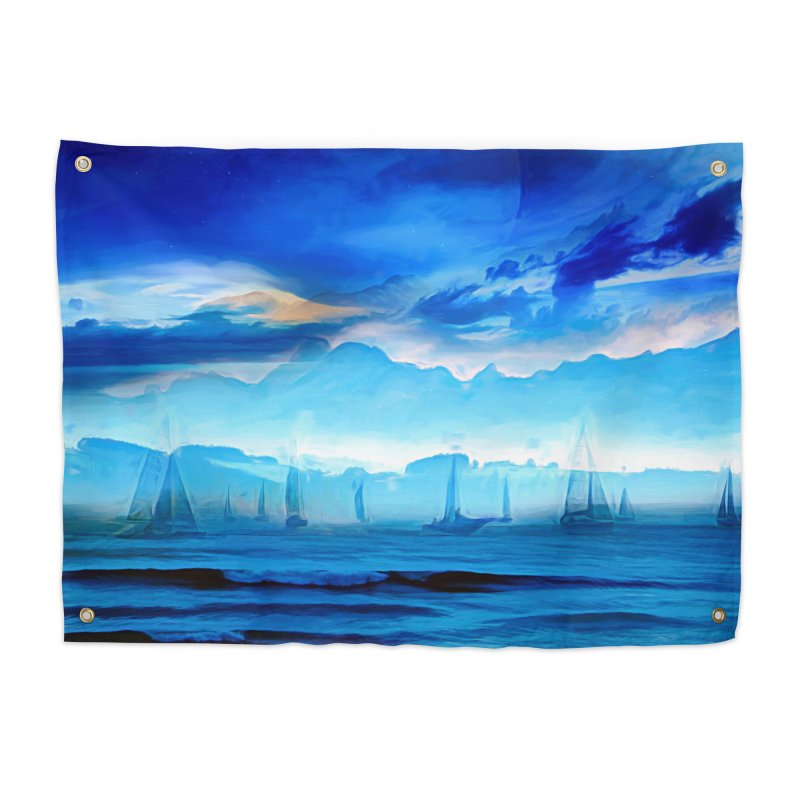 Blue Dreams Home Tapestry by Jasmina Seidl's Artist Shop