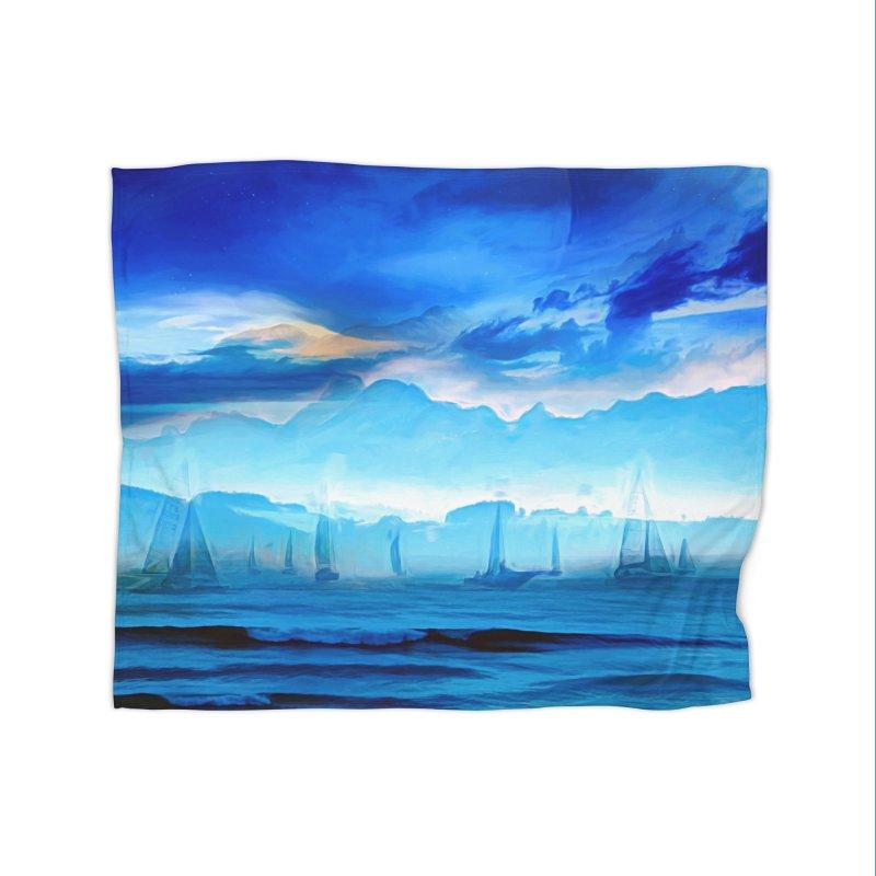 Blue Dreams Home Fleece Blanket Blanket by Jasmina Seidl's Artist Shop