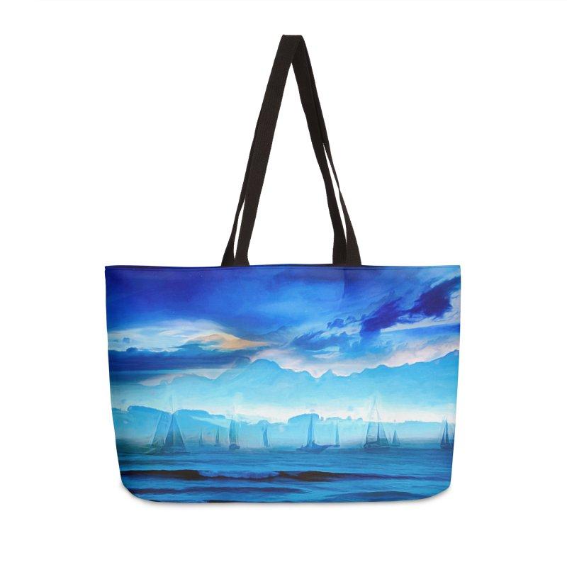 Blue Dreams Accessories Weekender Bag Bag by Jasmina Seidl's Artist Shop