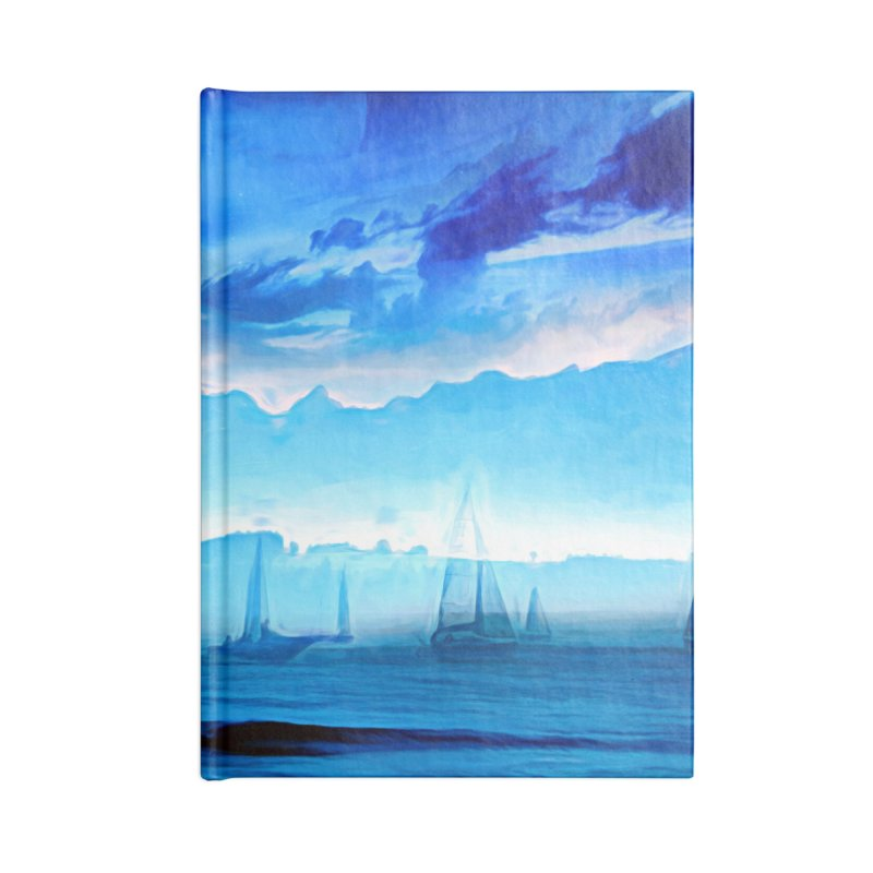 Blue Dreams Accessories Lined Journal Notebook by Jasmina Seidl's Artist Shop