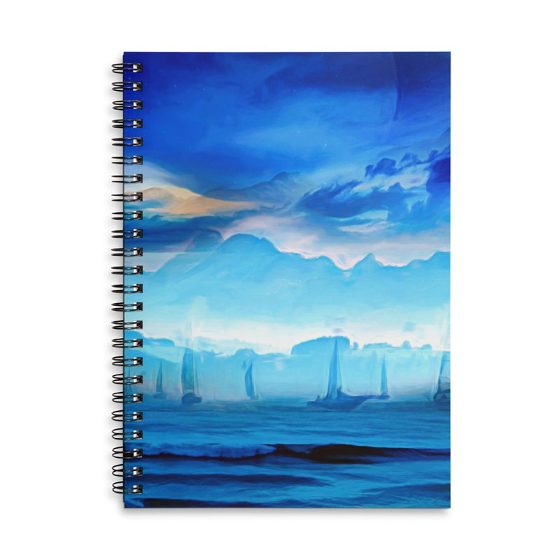 Blue Dreams Accessories Lined Spiral Notebook by Jasmina Seidl's Artist Shop