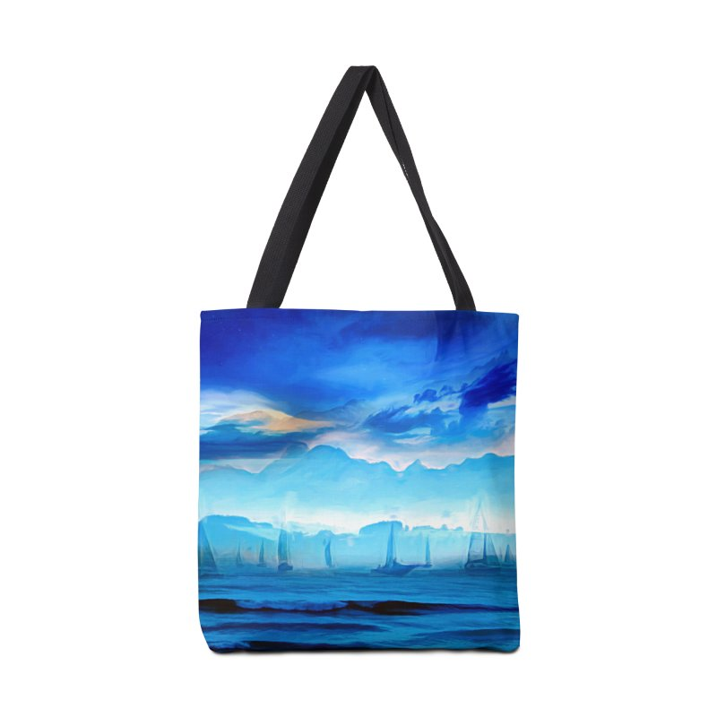 Blue Dreams Accessories Tote Bag Bag by Jasmina Seidl's Artist Shop
