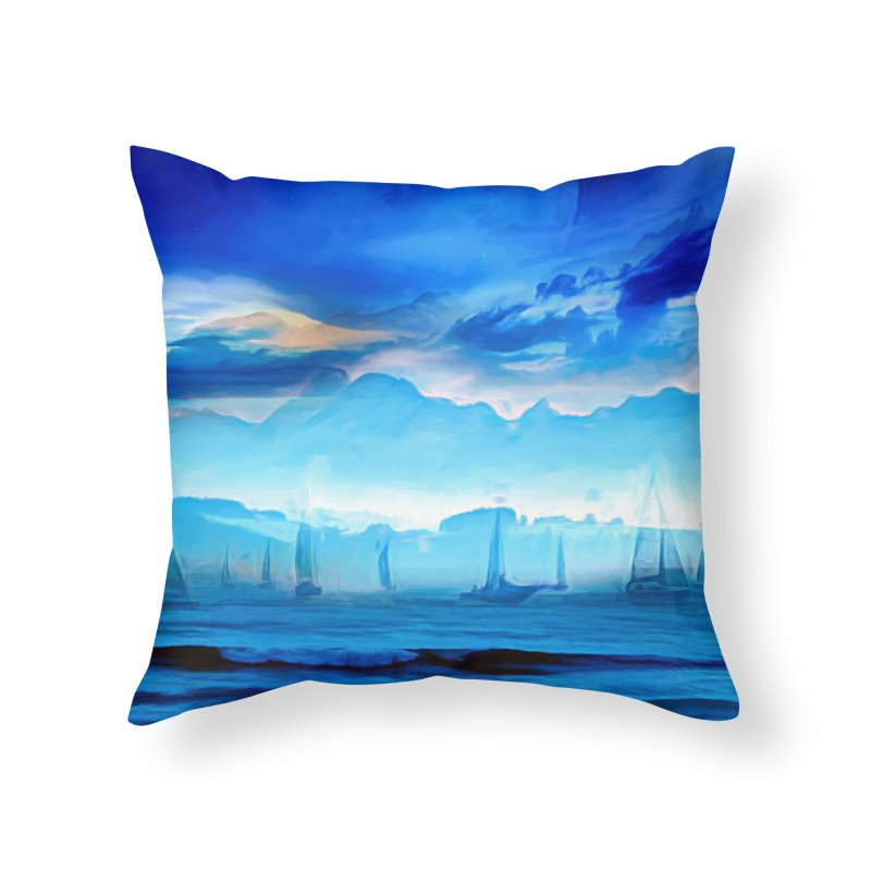 Blue Dreams Home Throw Pillow by Jasmina Seidl's Artist Shop