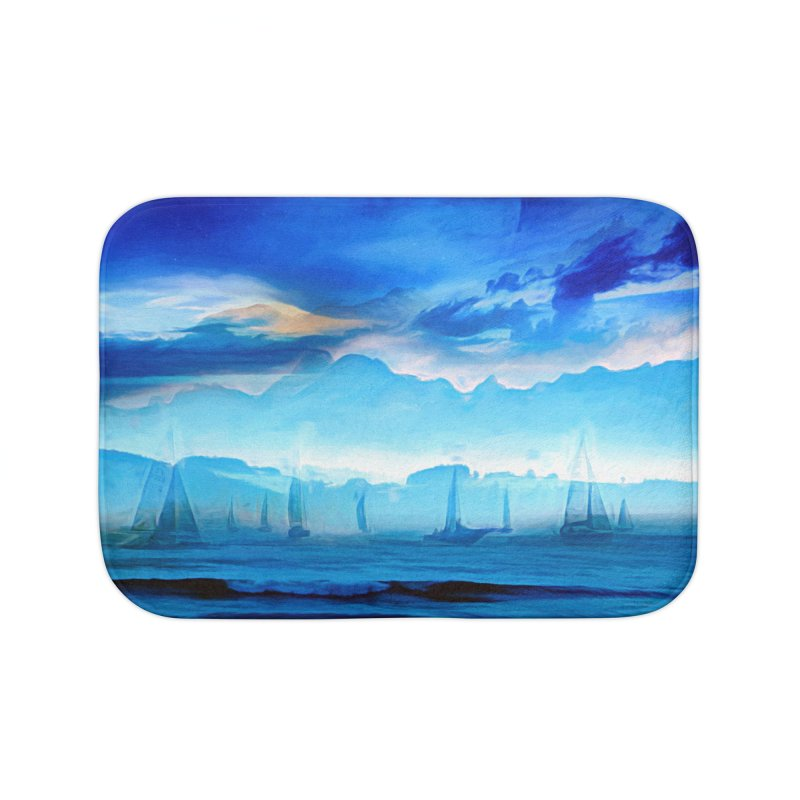 Blue Dreams Home Bath Mat by Jasmina Seidl's Artist Shop