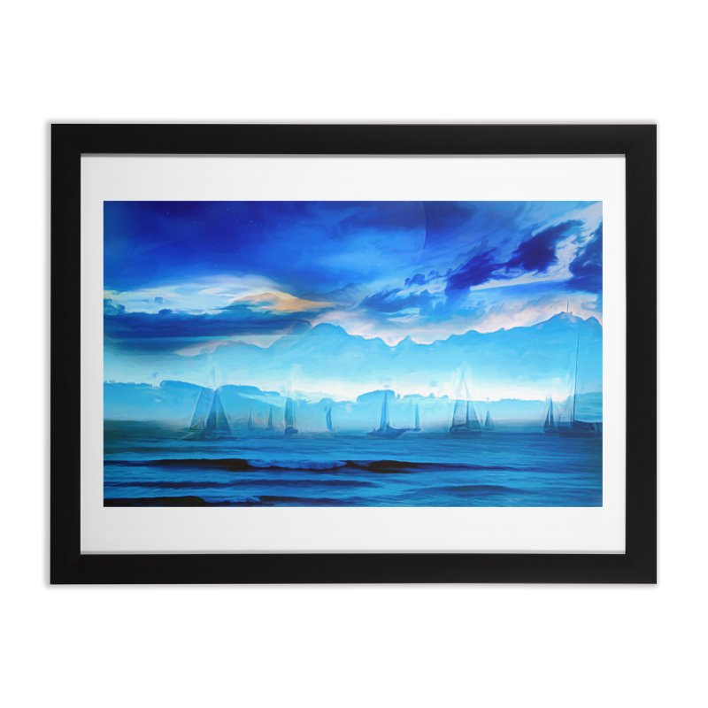 Blue Dreams Home Framed Fine Art Print by Jasmina Seidl's Artist Shop