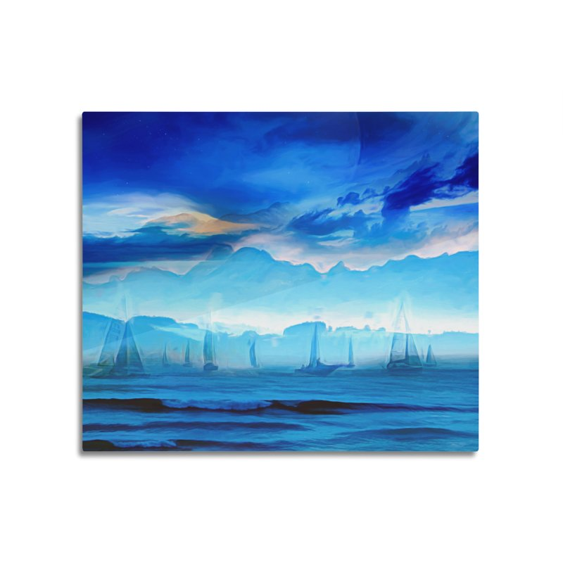 Blue Dreams Home Mounted Aluminum Print by Jasmina Seidl's Artist Shop