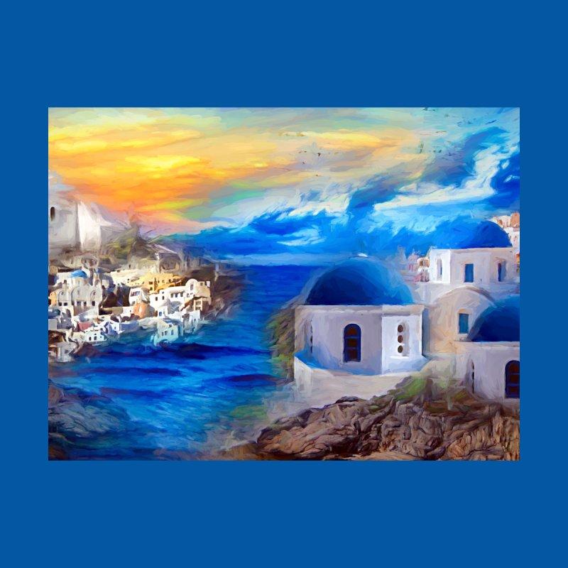 Santorini Dreamscape Men's T-Shirt by Jasmina Seidl's Artist Shop