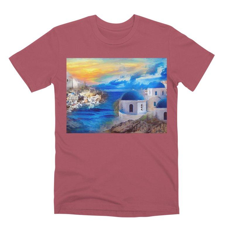 Santorini Dreamscape Men's Premium T-Shirt by Jasmina Seidl's Artist Shop