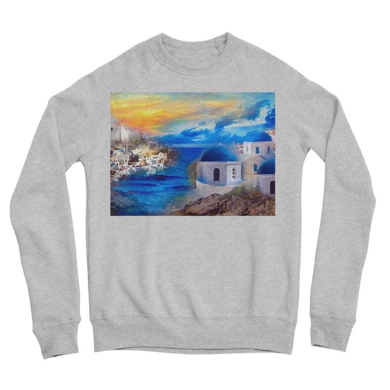Santorini Dreamscape Men's Sponge Fleece Sweatshirt by Jasmina Seidl's Artist Shop