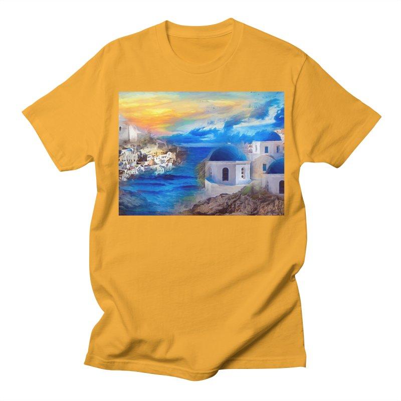 Santorini Dreamscape Women's Regular Unisex T-Shirt by Jasmina Seidl's Artist Shop