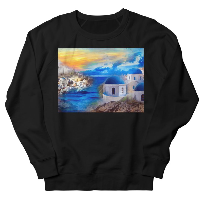 Santorini Dreamscape Women's French Terry Sweatshirt by Jasmina Seidl's Artist Shop