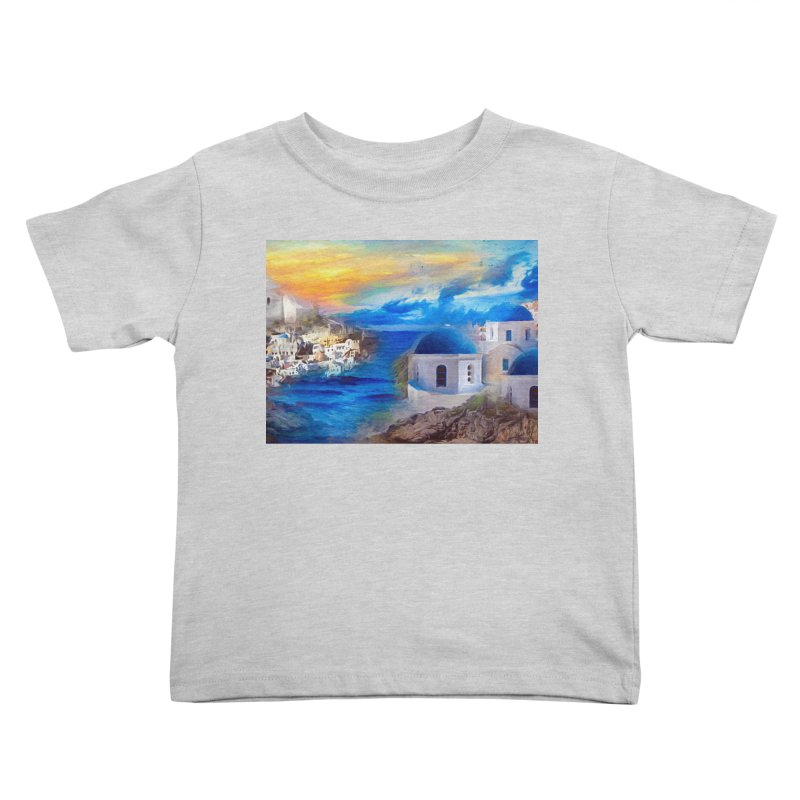 Santorini Dreamscape Kids Toddler T-Shirt by Jasmina Seidl's Artist Shop