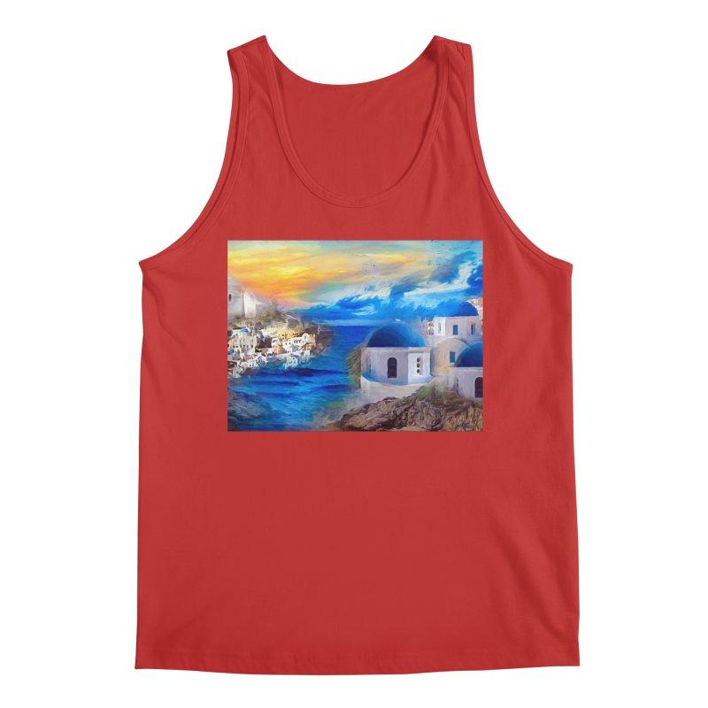 Santorini Dreamscape Men's Regular Tank by Jasmina Seidl's Artist Shop