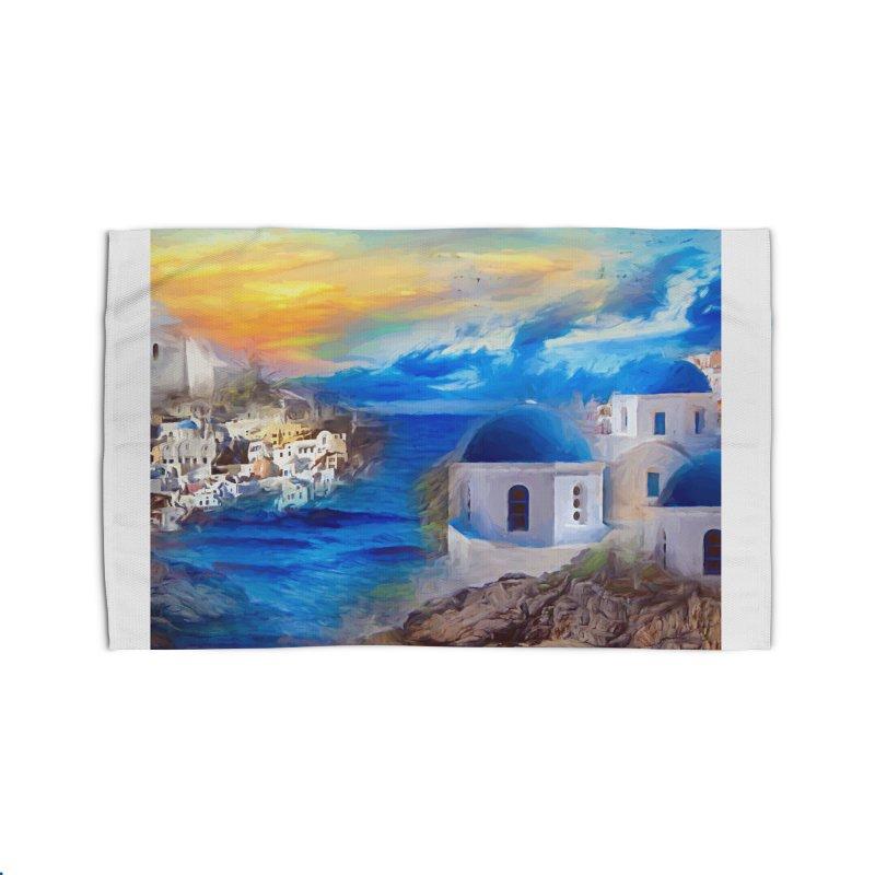 Santorini Dreamscape Home Rug by Jasmina Seidl's Artist Shop