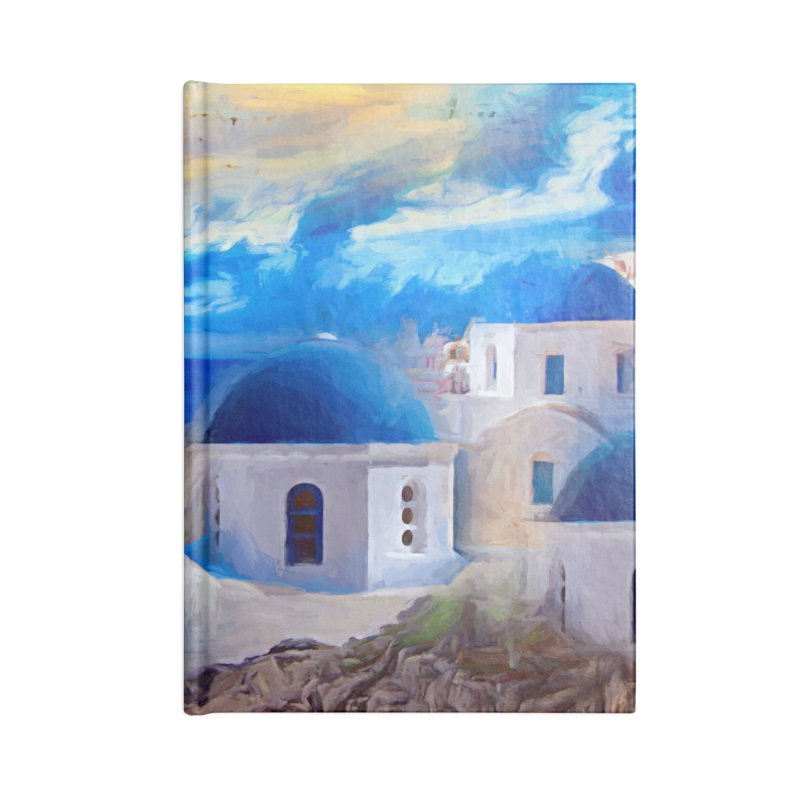 Santorini Dreamscape Accessories Blank Journal Notebook by Jasmina Seidl's Artist Shop