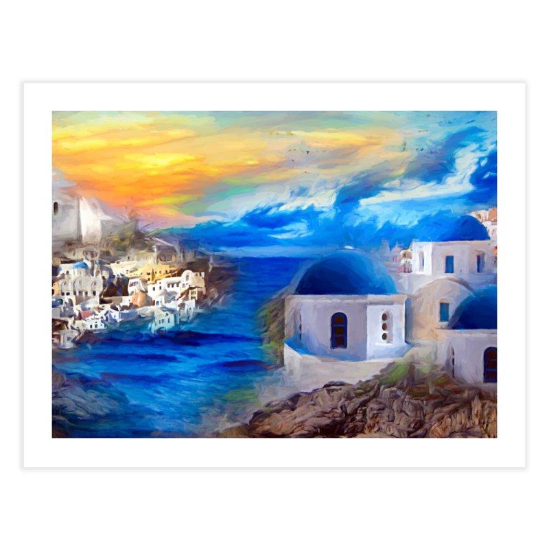 Santorini Dreamscape Home Fine Art Print by Jasmina Seidl's Artist Shop