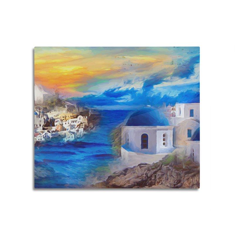 Santorini Dreamscape Home Mounted Aluminum Print by Jasmina Seidl's Artist Shop