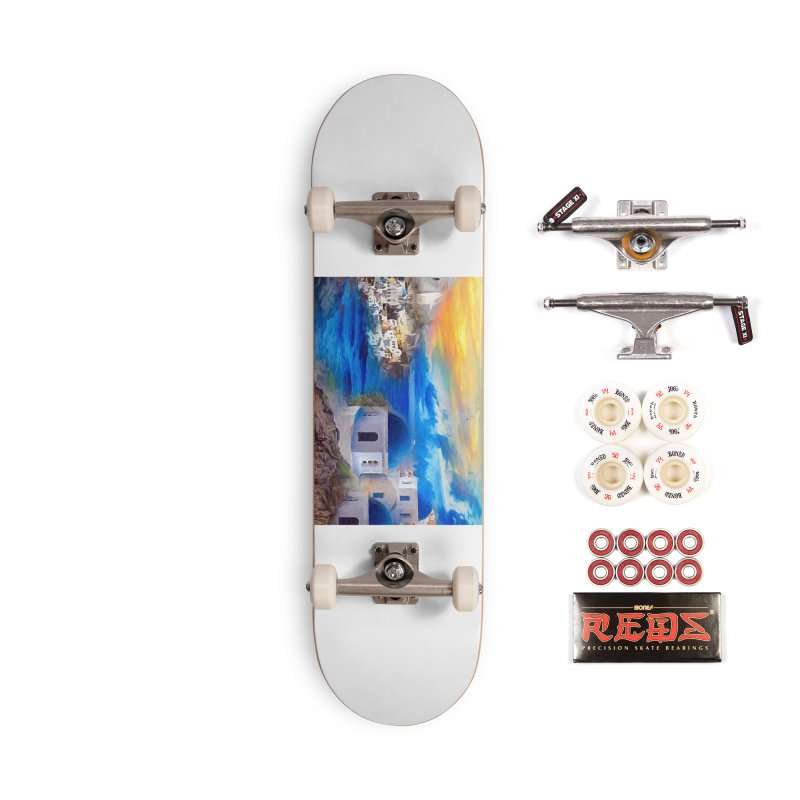 Santorini Dreamscape Accessories Complete - Pro Skateboard by Jasmina Seidl's Artist Shop