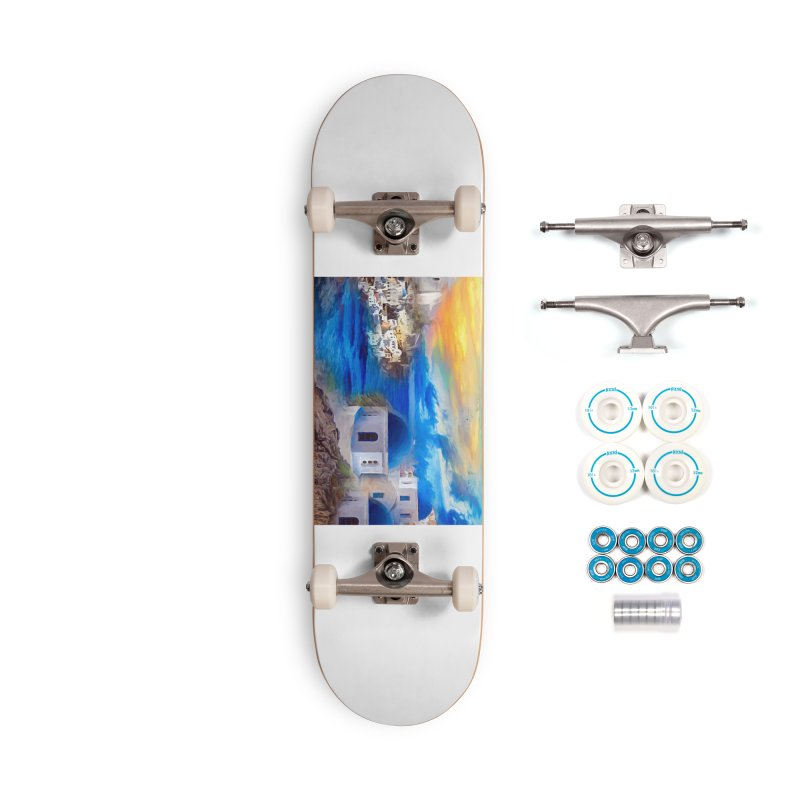 Santorini Dreamscape Accessories Complete - Basic Skateboard by Jasmina Seidl's Artist Shop