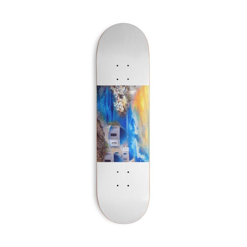 Santorini Dreamscape Accessories Deck Only Skateboard by Jasmina Seidl's Artist Shop