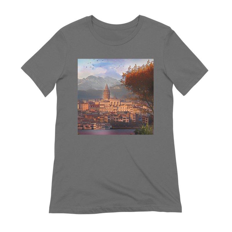 Village on the mountainside Women's Extra Soft T-Shirt by Jasmina Seidl's Artist Shop