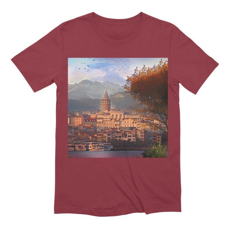 Village on the mountainside Men's Extra Soft T-Shirt by Jasmina Seidl's Artist Shop