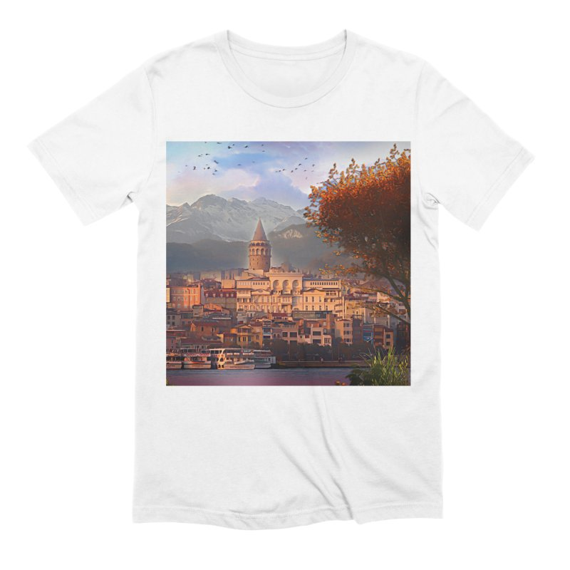 Village on the mountainside Men's Extra Soft T-Shirt by Jasmina Seidl's Artist Shop