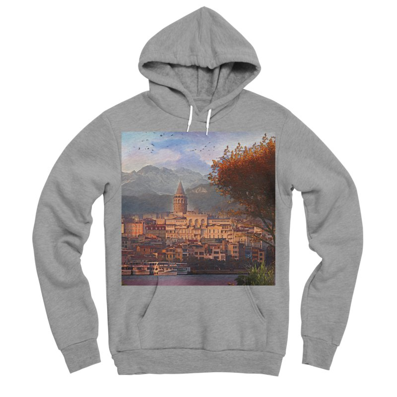 Village on the mountainside Women's Sponge Fleece Pullover Hoody by Jasmina Seidl's Artist Shop