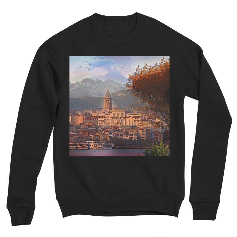 Village on the mountainside Men's Sponge Fleece Sweatshirt by Jasmina Seidl's Artist Shop