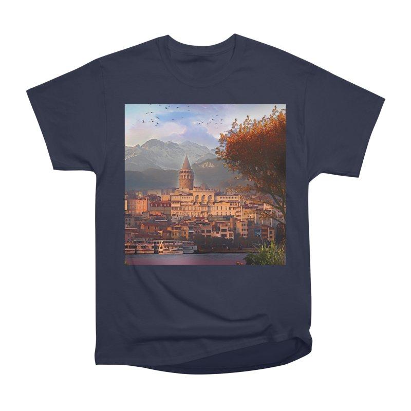 Village on the mountainside Men's Heavyweight T-Shirt by Jasmina Seidl's Artist Shop