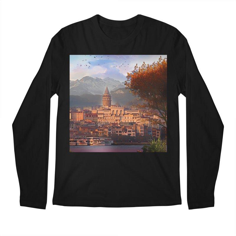 Village on the mountainside Men's Regular Longsleeve T-Shirt by Jasmina Seidl's Artist Shop