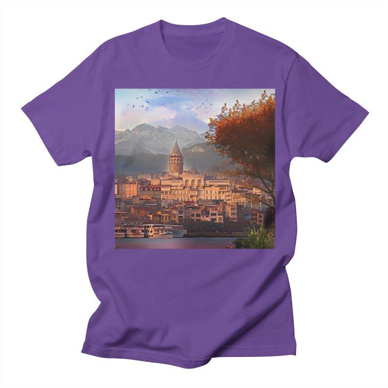 Village on the mountainside Women's Regular Unisex T-Shirt by Jasmina Seidl's Artist Shop