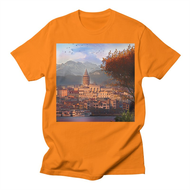 Village on the mountainside Women's Regular Unisex T-Shirt by Jasmina Seidl's Artist Shop