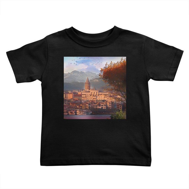Village on the mountainside Kids Toddler T-Shirt by Jasmina Seidl's Artist Shop