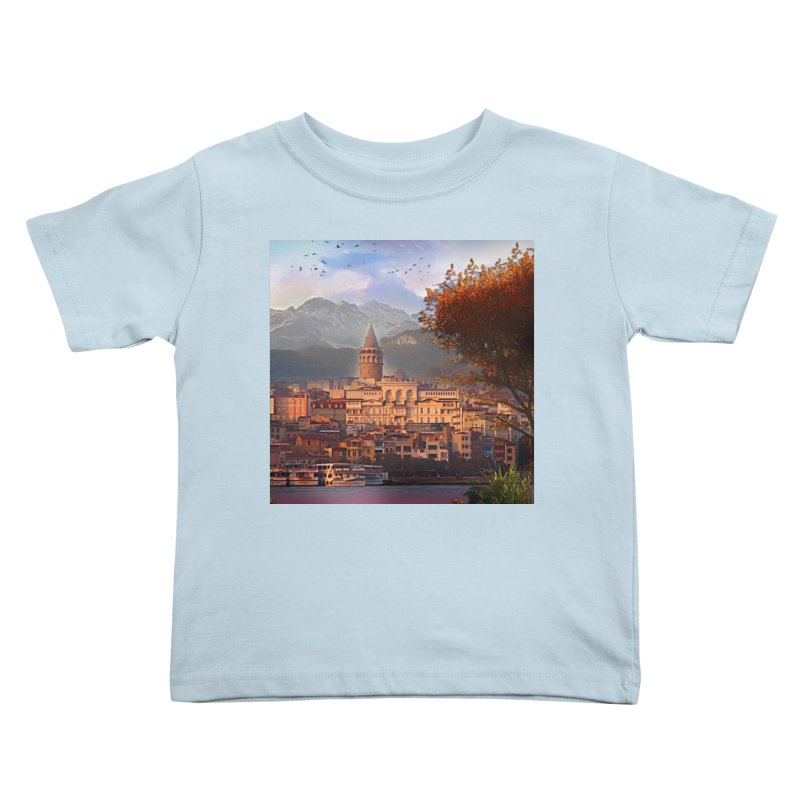Village on the mountainside Kids Toddler T-Shirt by Jasmina Seidl's Artist Shop