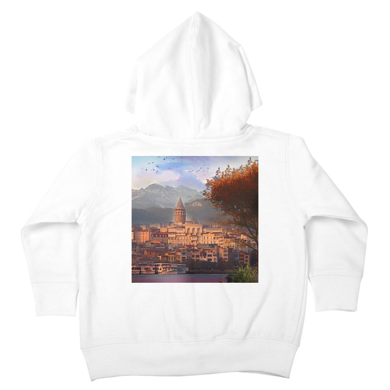 Village on the mountainside Kids Toddler Zip-Up Hoody by Jasmina Seidl's Artist Shop