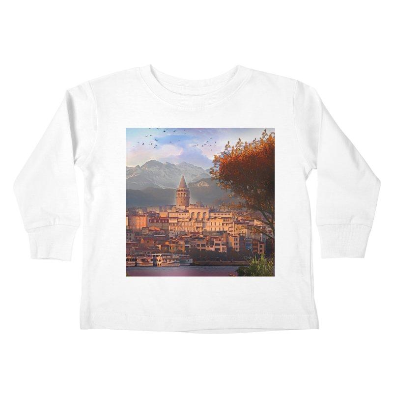 Village on the mountainside Kids Toddler Longsleeve T-Shirt by Jasmina Seidl's Artist Shop