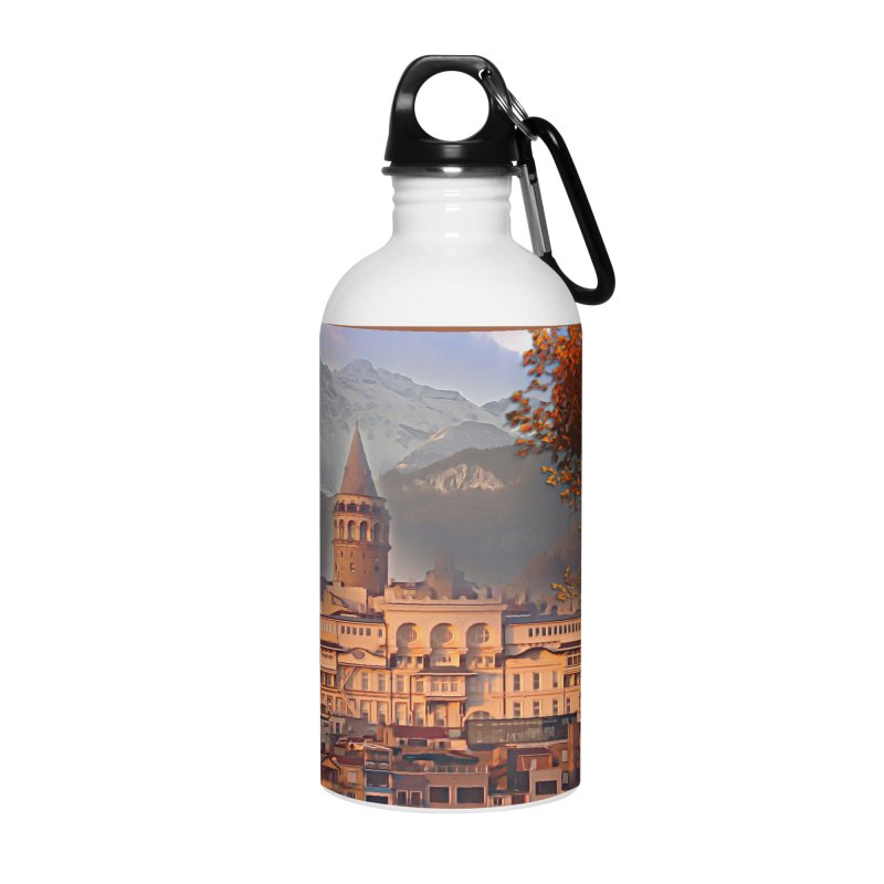 Village on the mountainside Accessories Water Bottle by Jasmina Seidl's Artist Shop