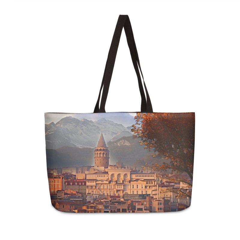 Village on the mountainside Accessories Weekender Bag Bag by Jasmina Seidl's Artist Shop