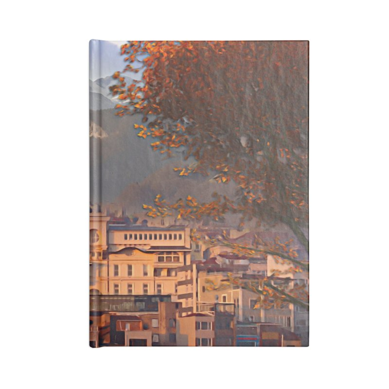 Village on the mountainside Accessories Lined Journal Notebook by Jasmina Seidl's Artist Shop