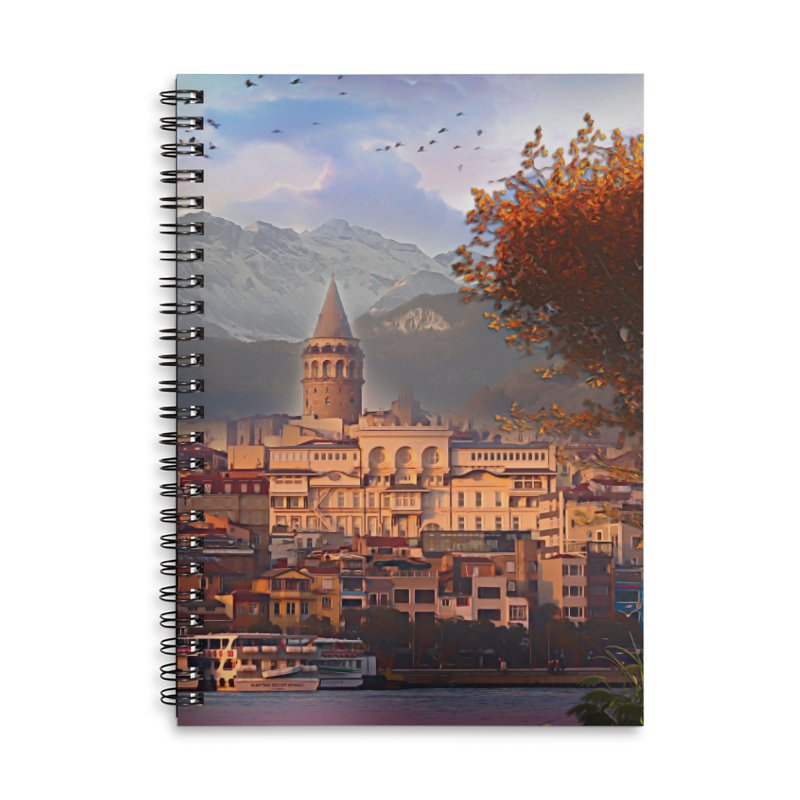 Village on the mountainside Accessories Lined Spiral Notebook by Jasmina Seidl's Artist Shop