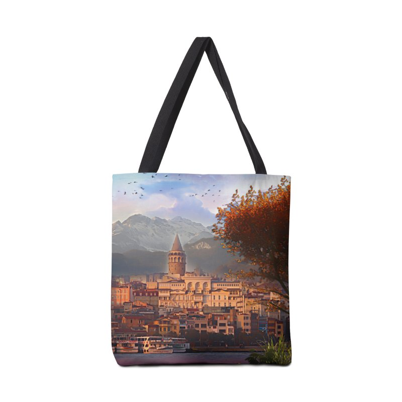 Village on the mountainside Accessories Tote Bag Bag by Jasmina Seidl's Artist Shop
