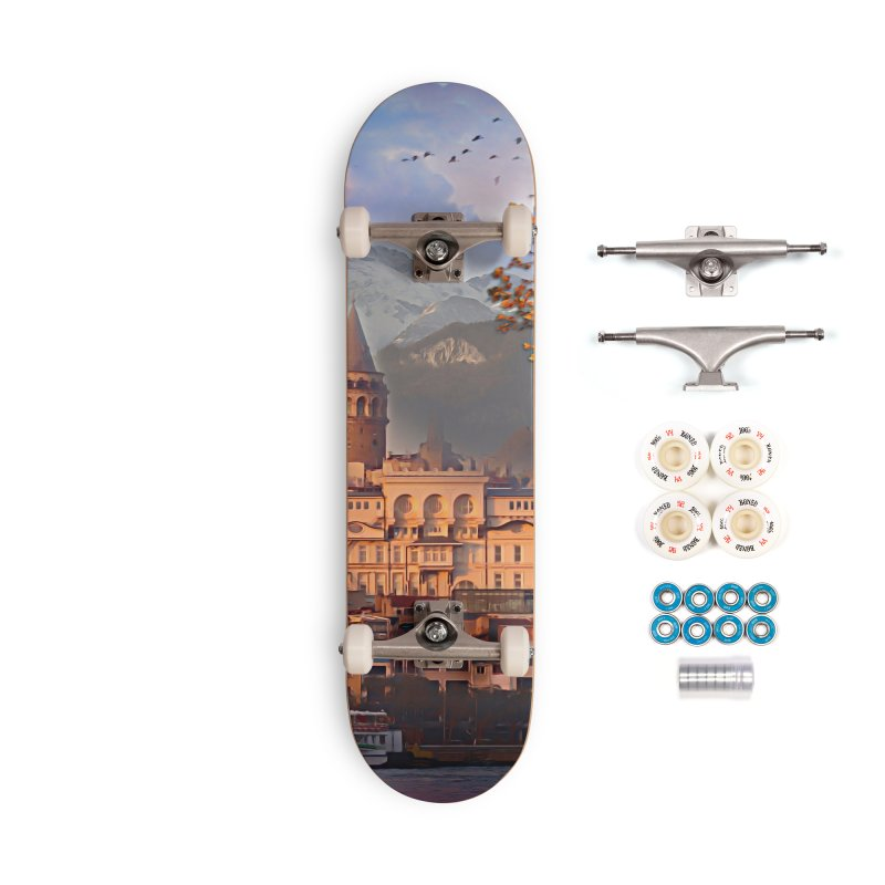 Village on the mountainside Accessories Complete - Premium Skateboard by Jasmina Seidl's Artist Shop