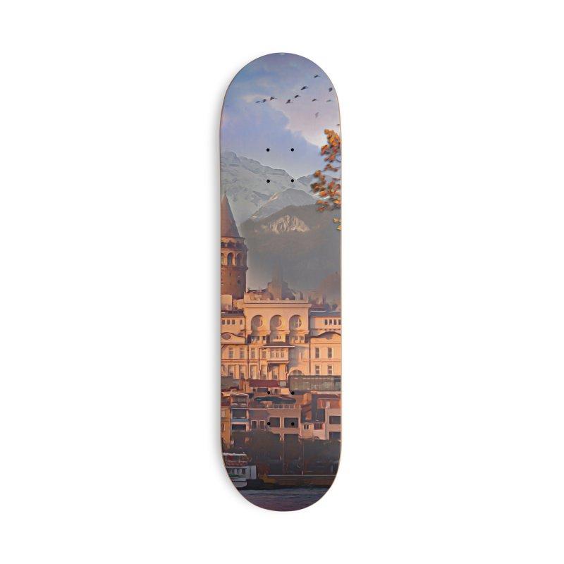 Village on the mountainside Accessories Deck Only Skateboard by Jasmina Seidl's Artist Shop