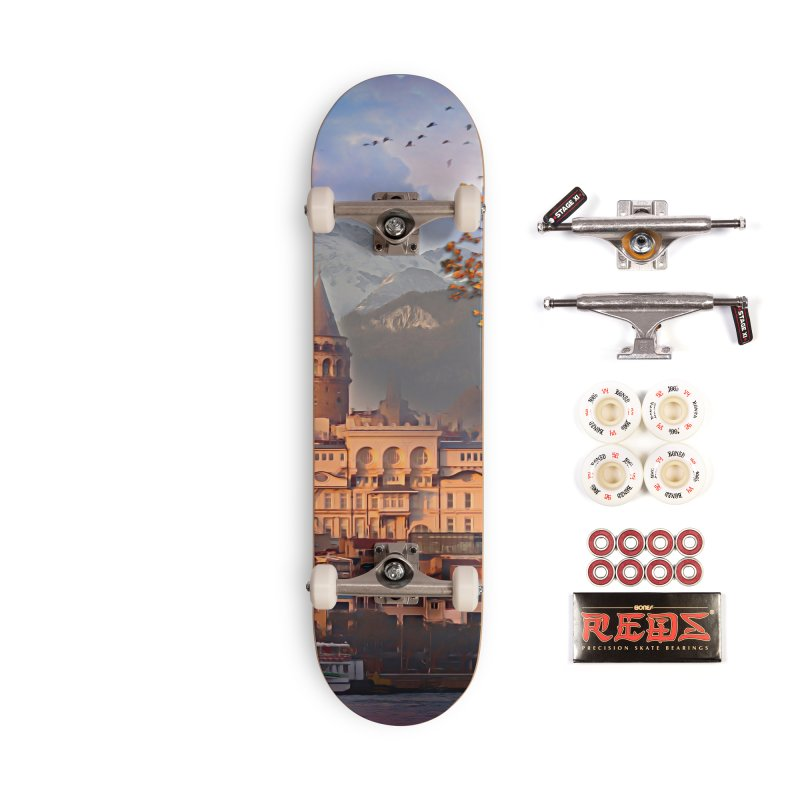 Village on the mountainside Accessories Complete - Pro Skateboard by Jasmina Seidl's Artist Shop