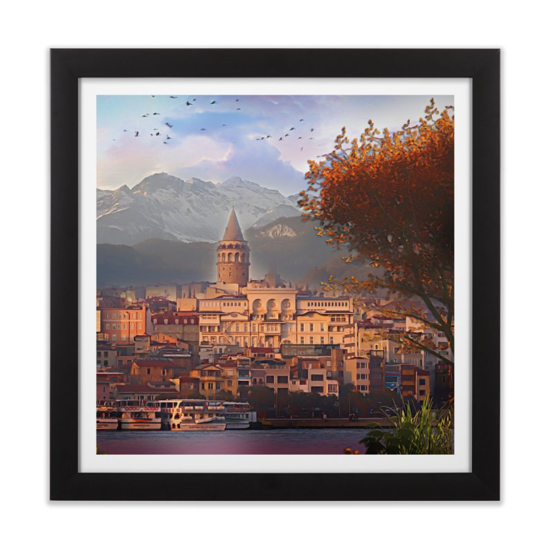 Village on the mountainside Home Framed Fine Art Print by Jasmina Seidl's Artist Shop