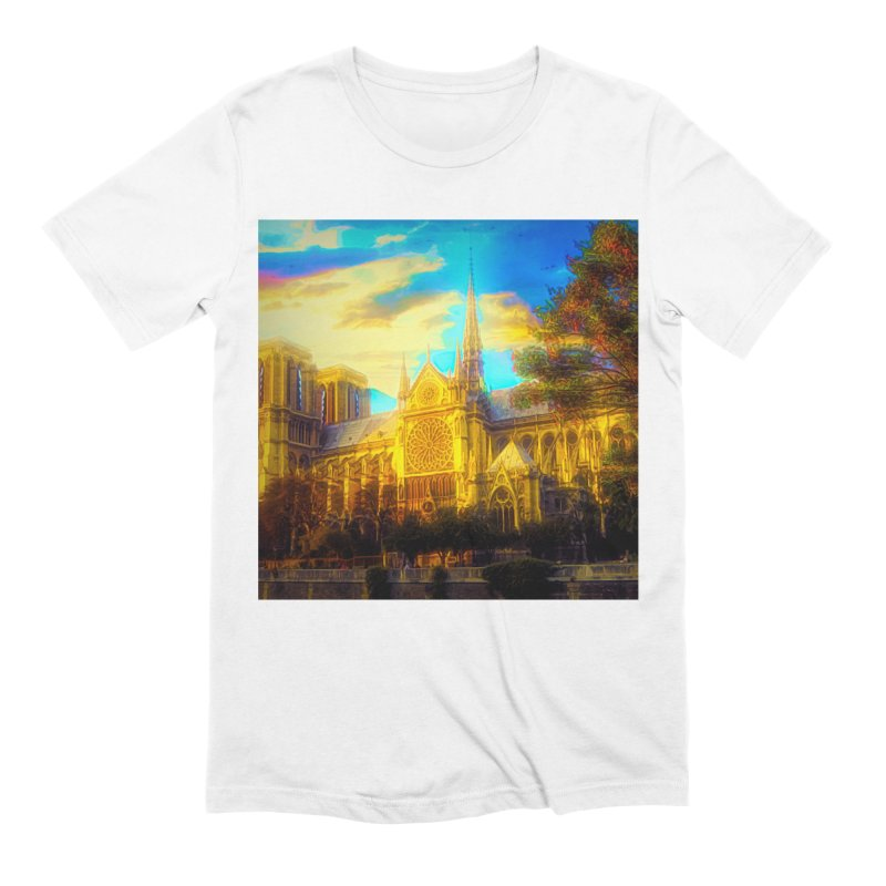 Notre Dame Paris Men's Extra Soft T-Shirt by Jasmina Seidl's Artist Shop