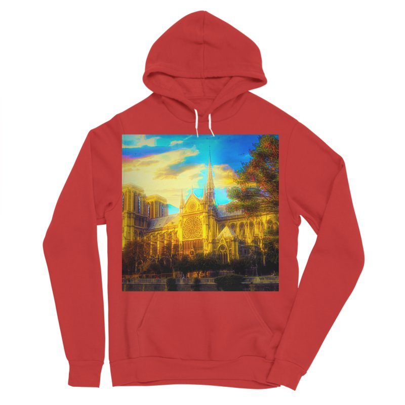 Notre Dame Paris Women's Sponge Fleece Pullover Hoody by Jasmina Seidl's Artist Shop