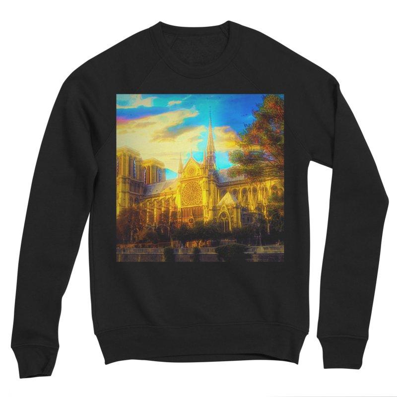 Notre Dame Paris Men's Sponge Fleece Sweatshirt by Jasmina Seidl's Artist Shop